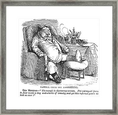 Gout Cartoon, 19th Century Framed Print