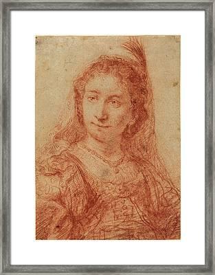Govaert Flinck Dutch, 1615 - 1660, Saskia Framed Print by Quint Lox