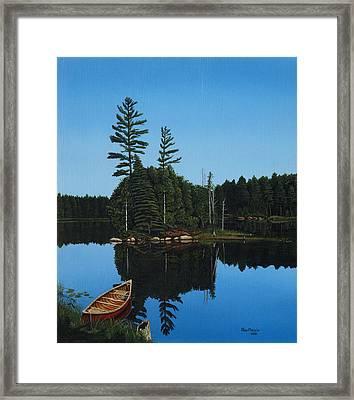 Govan Lake Framed Print