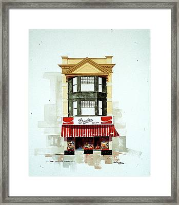Framed Print featuring the painting Govatos' Candy Store by William Renzulli