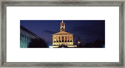 Government Building At Dusk, Tennessee Framed Print by Panoramic Images
