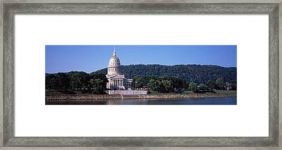Government Building At The Riverside Framed Print by Panoramic Images