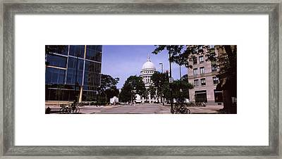 Government Building In A City Framed Print