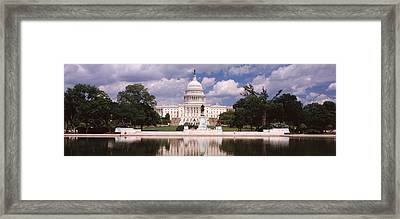 Government Building On The Waterfront Framed Print by Panoramic Images