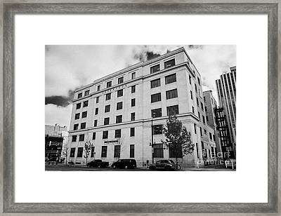 government of canada building saskatoon Saskatchewan Canada Framed Print by Joe Fox