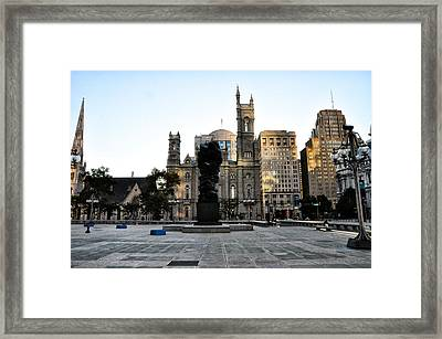Government Of The People Statue Framed Print by Bill Cannon