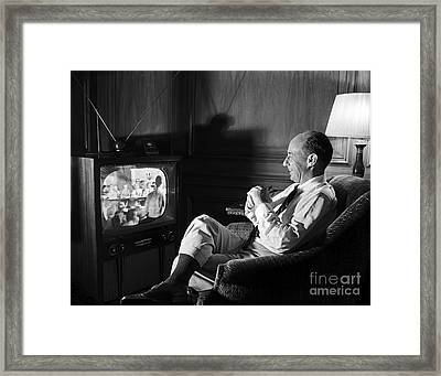 Framed Print featuring the photograph Adlai Stevenson 1952 by Martin Konopacki Restoration