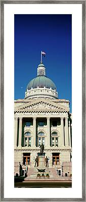 Governor Oliver Morton Monument Framed Print by Panoramic Images