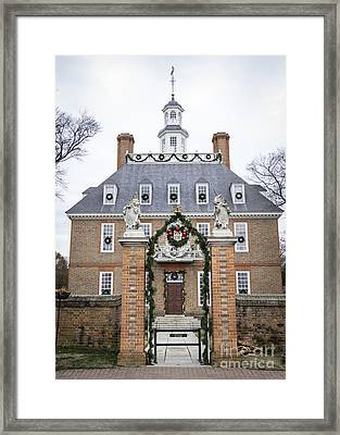 Governors Palace With Gate Framed Print