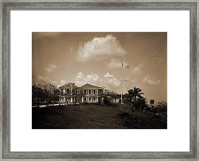 Governors Residence, Nassau, Bahama Islds, Government House Framed Print