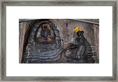 Govinda's Cave - Omkareshwar India Framed Print