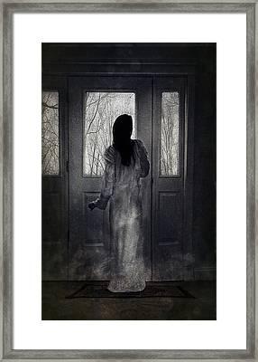 Gown Framed Print by Spokenin RED