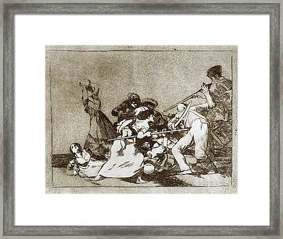 Goya Disasters Of War Framed Print by Granger