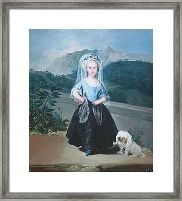 Goya's Maria Teresa De Bordon Y Vallabriga Later Condesa De Chinchon Framed Print by Cora Wandel