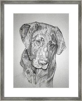 Framed Print featuring the drawing Gozar by Mayhem Mediums