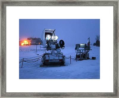 Gpm Weather Satellite Ground Sensor Framed Print