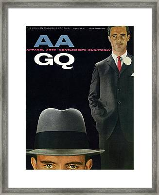 Gq And Aa Cover Of A Montage Of A Male Model Framed Print