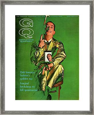 Gq Cover Featuring Salvador Dali Framed Print