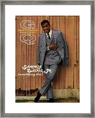 Gq Cover Featuring Sammy Davis Jr Framed Print by Milton Greene