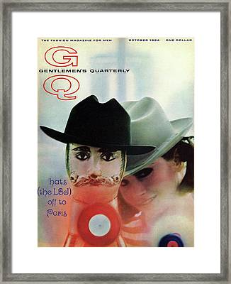 Gq Cover Of Mannequin Head And Female Model Framed Print