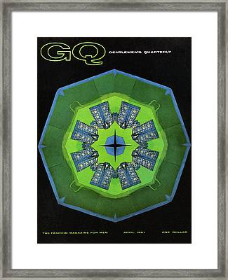 Gq Cover Of Shirts By Giorgio Creations Framed Print by Leon Kuzmanoff