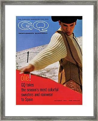 Gq Cover Of Spanish Matador Framed Print
