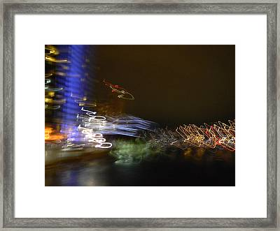 G.r. Grand River Dazzling Lights Framed Print