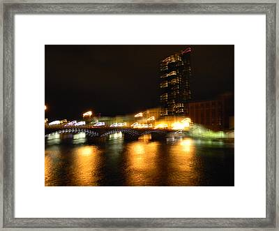 G.r. Grand River Glow Framed Print