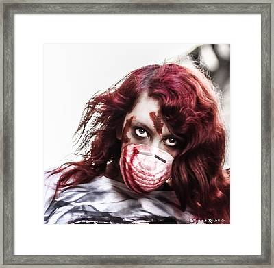 Framed Print featuring the photograph Grab And Destroy by Stwayne Keubrick