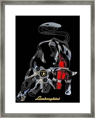 Grab The Bull By The Horns Framed Print