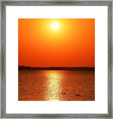 Grab Your Cup Of Coffee And Enjoy The Sunrise Framed Print by Dacia Doroff