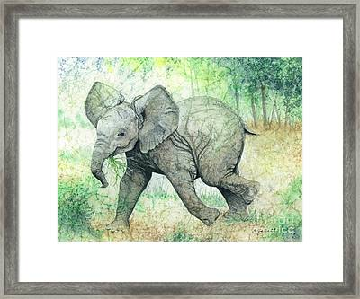 Grabbing A Snack Framed Print by Barbara Jewell