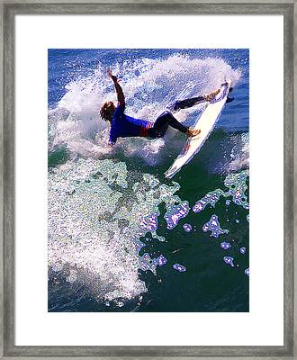 Grabin' The Lip Framed Print by Ron Regalado