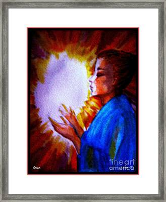 Framed Print featuring the painting Grace - 1 by Leanne Seymour