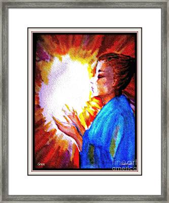 Framed Print featuring the painting Grace - 2 by Leanne Seymour