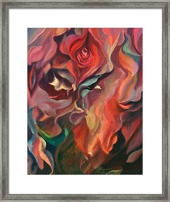 Framed Print featuring the painting Grace And Desire - Floral Abstract by Brooks Garten Hauschild