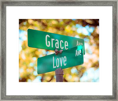 Grace And Love Photo Framed Print by Sonja Quintero
