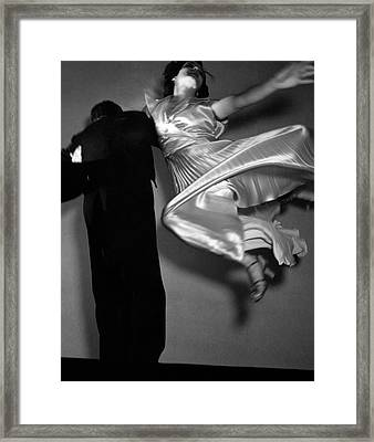 Grace And Paul Hartman Dancing Framed Print by Edward Steichen