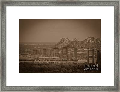 Grace And Pearman Bridges Framed Print