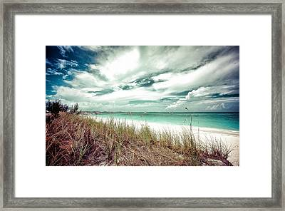 Grace Bay Framed Print by Maria Robinson
