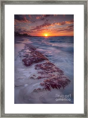 Grace Bay Sunset Framed Print