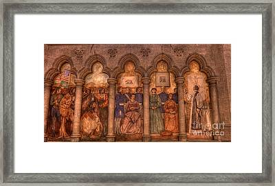 Grace Cathedral Mural Framed Print by David Bearden
