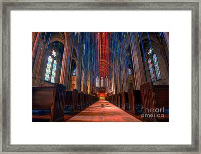 Grace Cathedral San Francisco Framed Print by Peter Dang