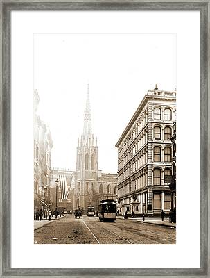 Grace Church, Broadway, New York, Churches, Streets Framed Print