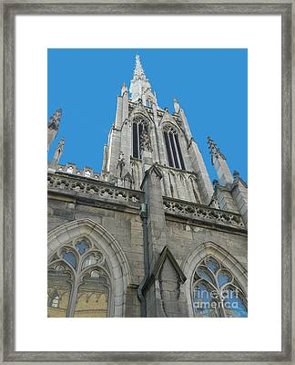 Grace Church Steeple Nyc Framed Print
