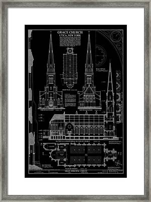 Grace Church - Utica New York Framed Print by Daniel Hagerman