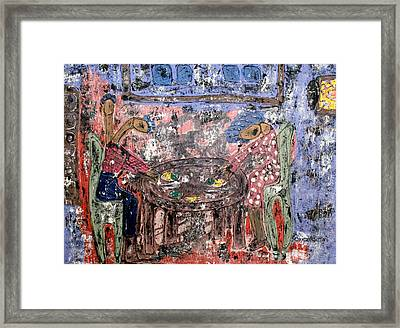 Grace I Got Your Back By Cleaster Cotton Framed Print