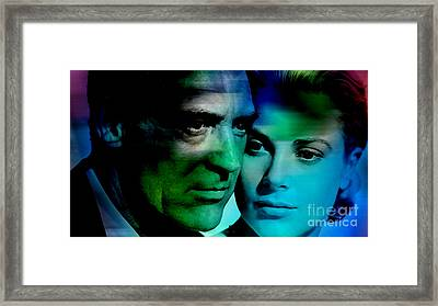 Grace Kelly And Cary Grant Framed Print by Marvin Blaine