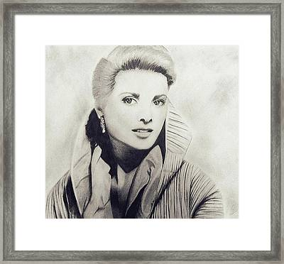 Grace Kelly Framed Print by Sarah Mirza