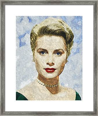 Grace Kelly Framed Print by Taylan Apukovska